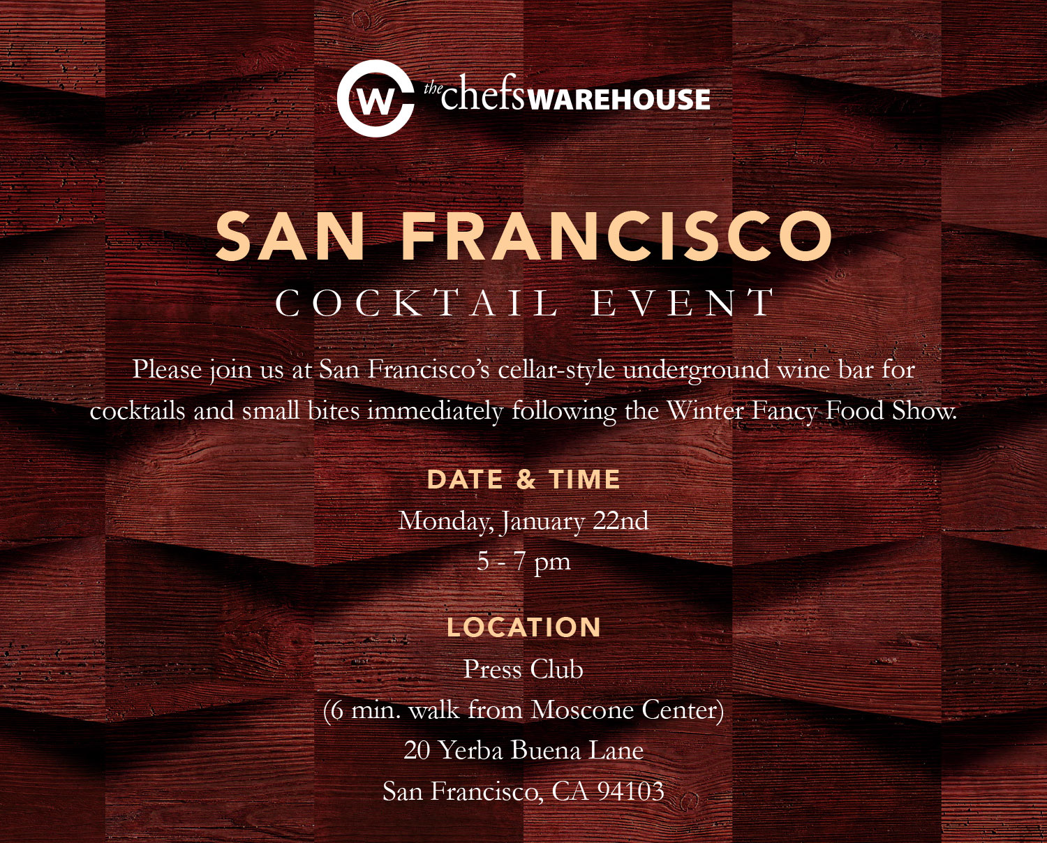 Events · San Francisco  sc 1 st  Chefs Warehouse Magazine & Join Us At Our SF Fancy Food Show Cocktail Party | Chefs Warehouse ...